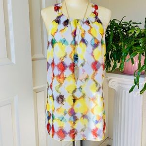 🌷Ann Taylor beautiful multi color sleeveless top